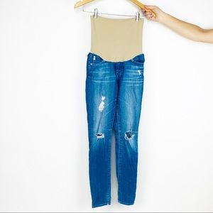 AG Adrianno Goldschmied maternity distressed jeans